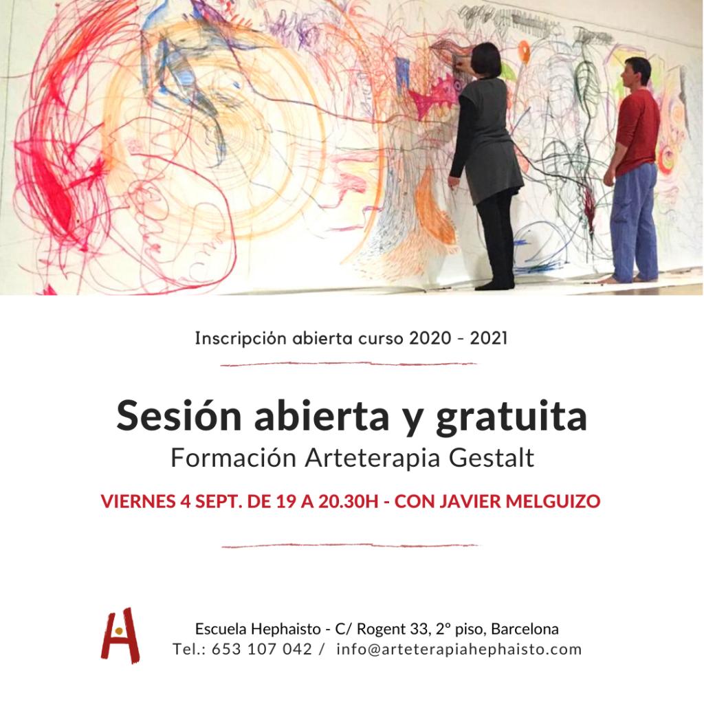 sesión abierta arteterapia gestalt barcelona